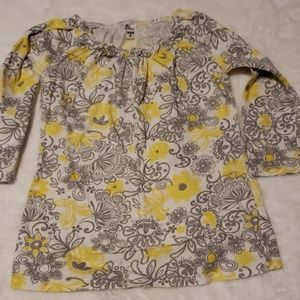 Yellow and grey floral